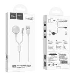 Hoco U69 - кабель для Lightning и беспроводная зарядка для Apple watch