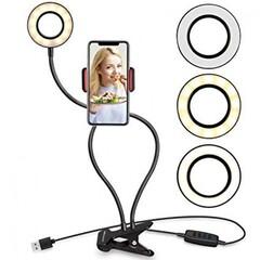 Держатель для блогеров с LED подсветкой GTM Professional Live Stream на прищепке