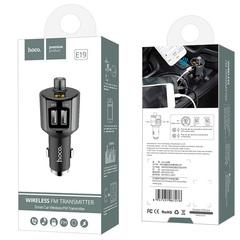 Автомобильное зарядное устройство с FM-трансмиттером 2xUSB Hoco E19