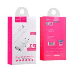 Сетевое зарядное устройство Hoco C12 2 выхода 2.4A Micro USB