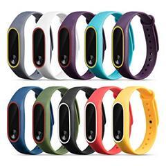 Сменный браслет для MI Band 2/MI Band 3/MI Band 4 цветной однотонный