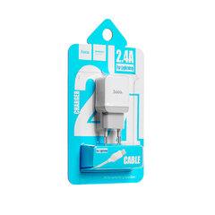 Сетевое зарядное устройство Hoco C22A  Lightning