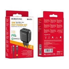 Зарядное устройство Borofone BA46A Premium PD + QC3.0