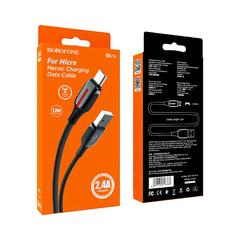 Кабель USB на Micro-USB Borofone BU14 технология быстрой зарядки VOOC