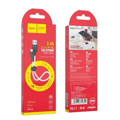 USB-Кабель Hoco X21 Plus 25 см Micro-USB